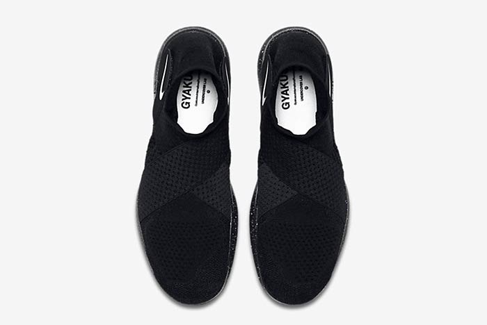 "NikeLab x UNDERCOVER GYAKUSOU Free RN Motion Flyknit ""Triple Black"""