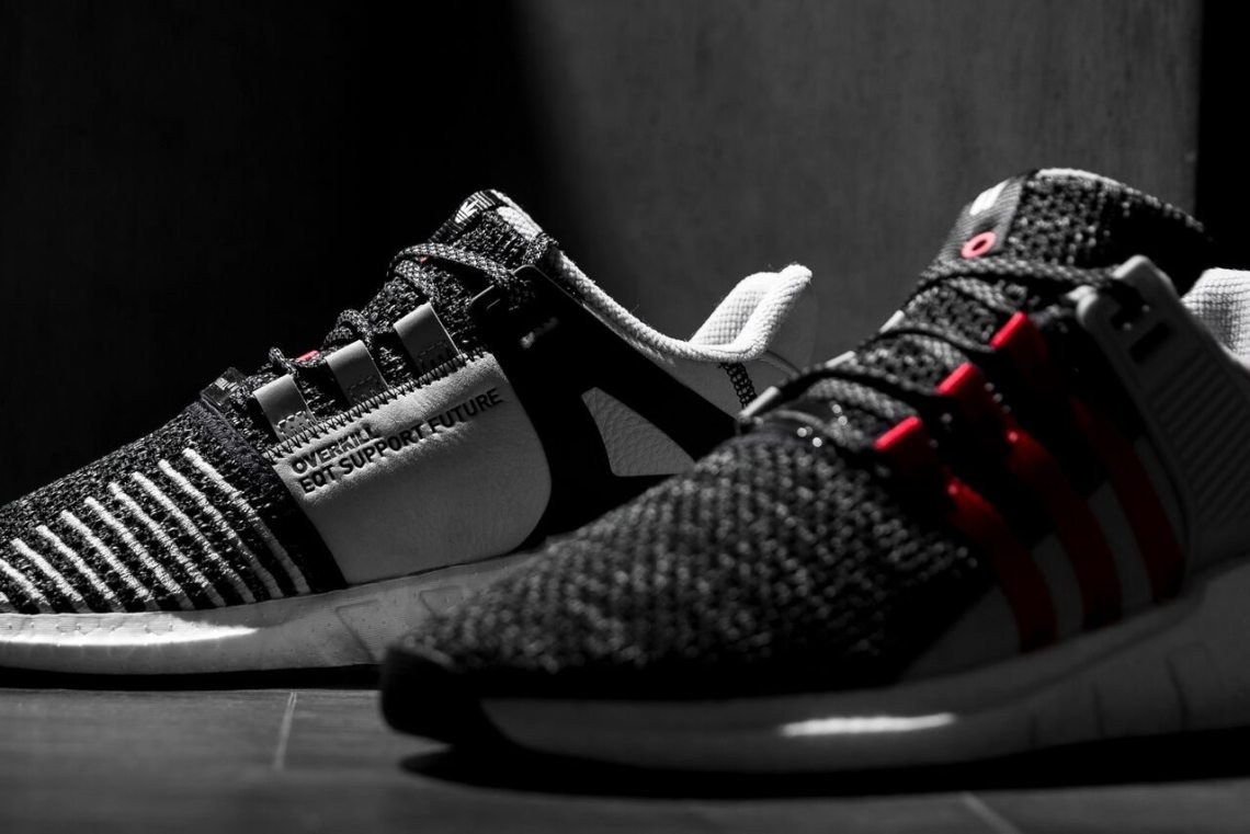 EQT Support Advanced Primeknit Turbo Red and Core Black