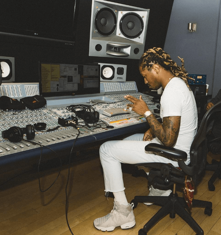 Future in his signature shoe from Reebok