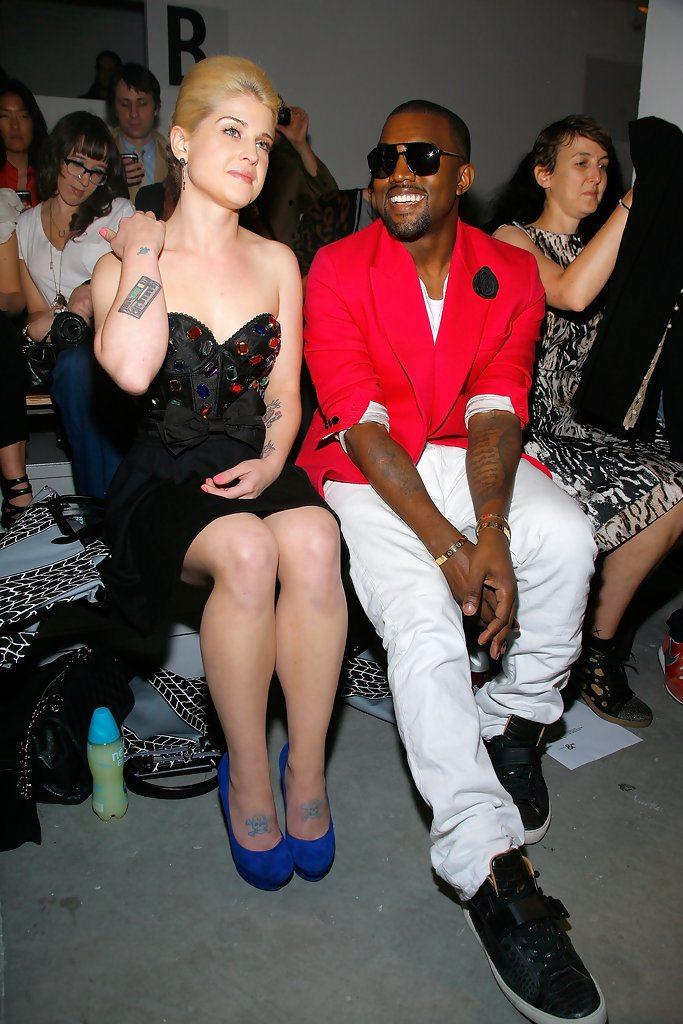 Kanye West in Hermes sneakers