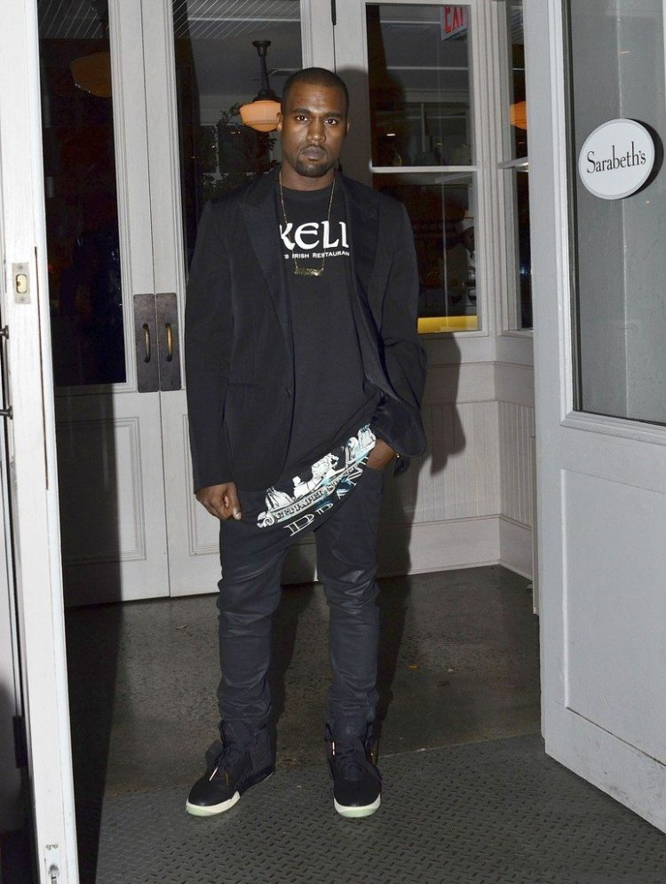 Kanye West in the Nike Air Yeezy 1 Prototype