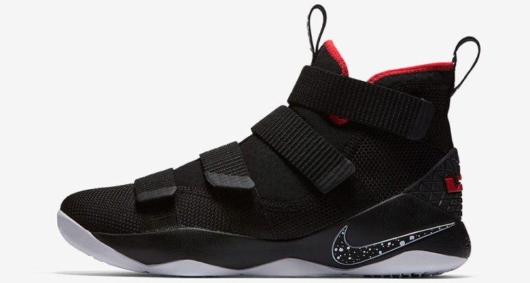 "Nike LeBron Soldier 11 ""Black/Red"""