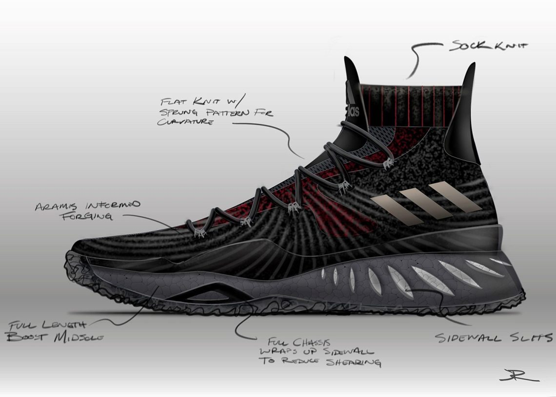 the latest b7c90 60e7e ... BASKETBALL DIAGNOSTICS NDP The first shoe was featured on Andrew  Wiggins, and you also signed Kristaps Porzingis adidas Crazy Explosive ...