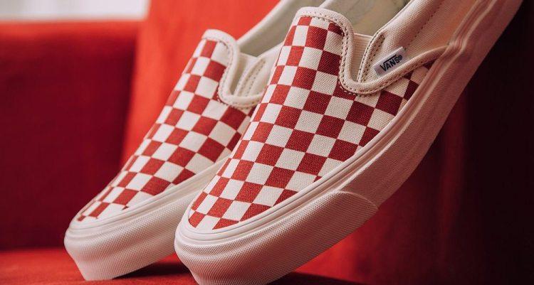 Vans Slip-On Red White  60dc9b2a8