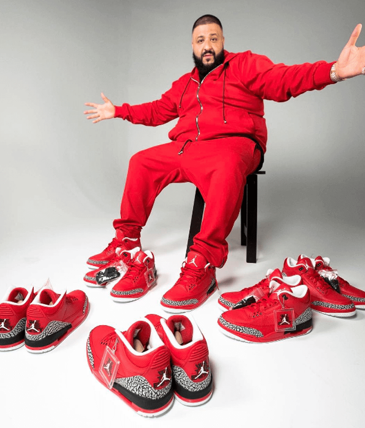 newest 2d419 c17b6 ... DJ Khaled in the Air Jordan 3