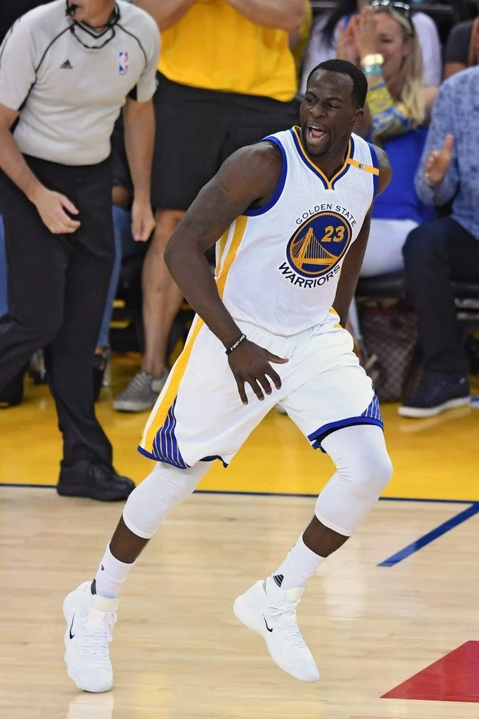 ... Draymond Green in his Nike REACT Hyperdunk 2017 PE (photo by Thearon W.  Henderson/Getty Images via Zimbio)