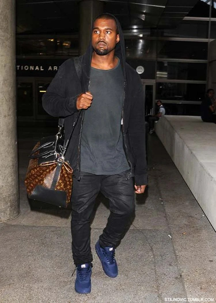 "new arrival dc31c f5d2d ... Kanye West in the Nike Air Max 90 Hyperfuse ""Navy"" ..."