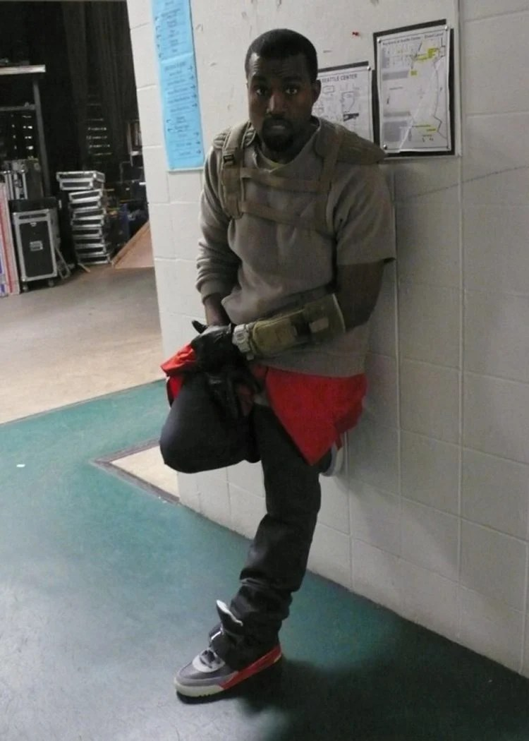 super popular 025a2 7f341 ... Kanye West in the Nike Air Yeezy 1 Prototype ...