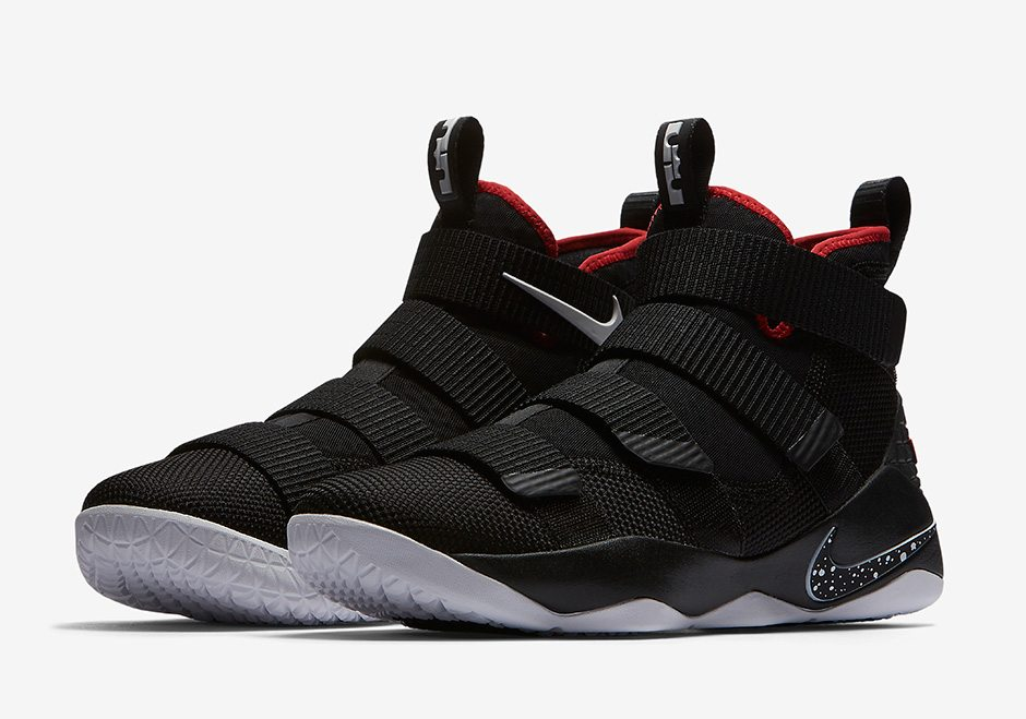 nike lebron soldier 11 quotblackredquot drops this weekend
