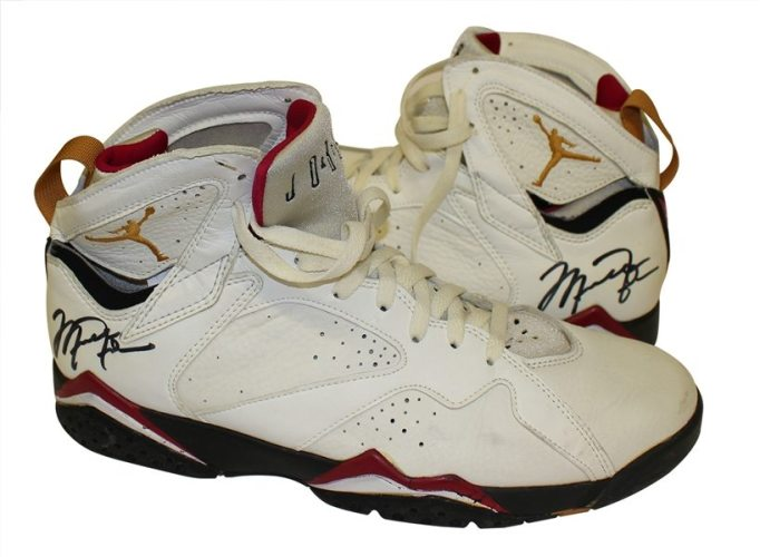 Michael Jordan Game Worn Autographed Shoes