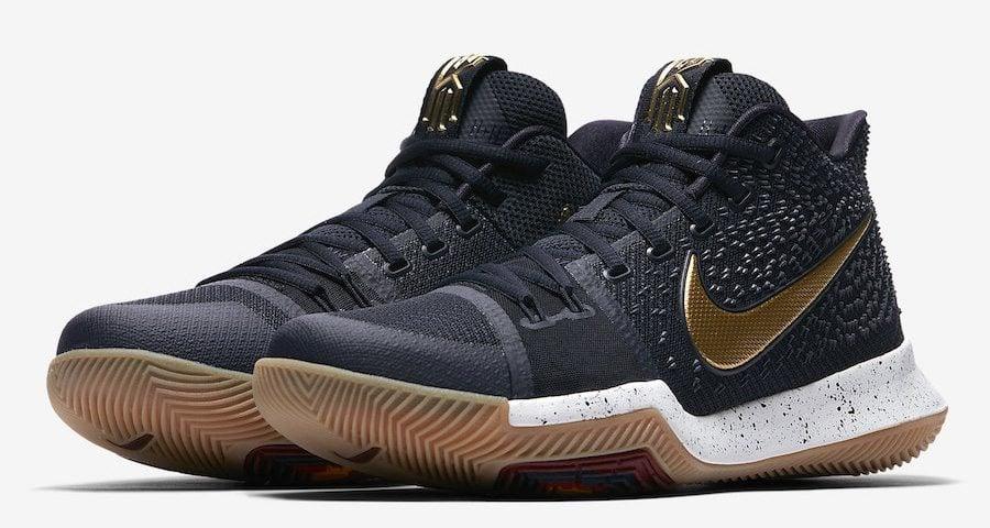 e83435f97ff341 Nike Kyrie 3 Black Metallic Gold    Release Date