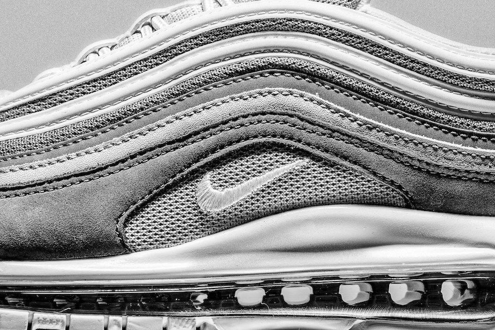 Swarovski Covered Nike Air Max 97 'Silver Bullet' Landing