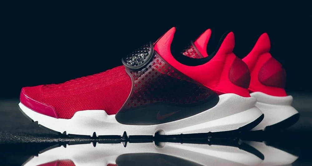 """big sale 38c12 8bfb9 Nike Sock Dart KJCRD """"Triple Red""""    Available Now"""