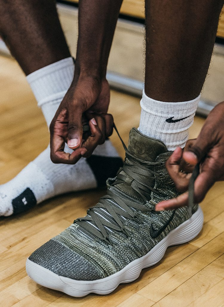 c73ef5e56846 NikeLab REACT Hyperdunk 2017 Flyknit Spotted On Court at Peach Jam ...