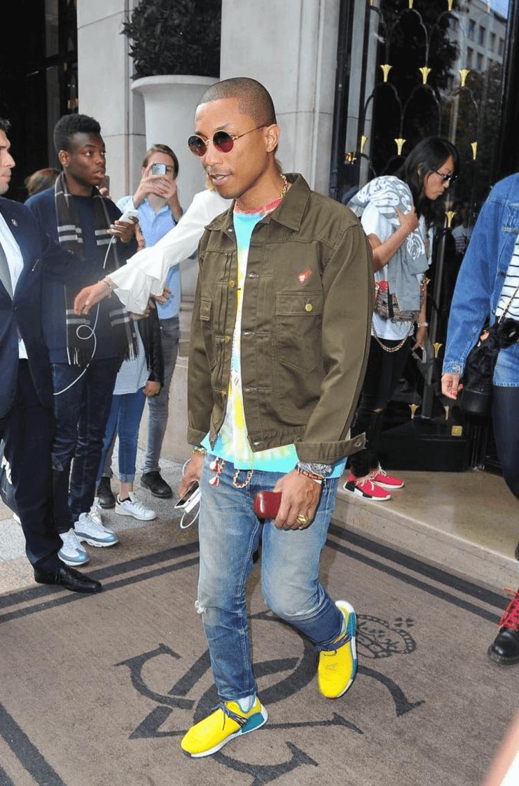 d8341adab ... Pharrell Williams in the Pw x adidas NMD Human Race