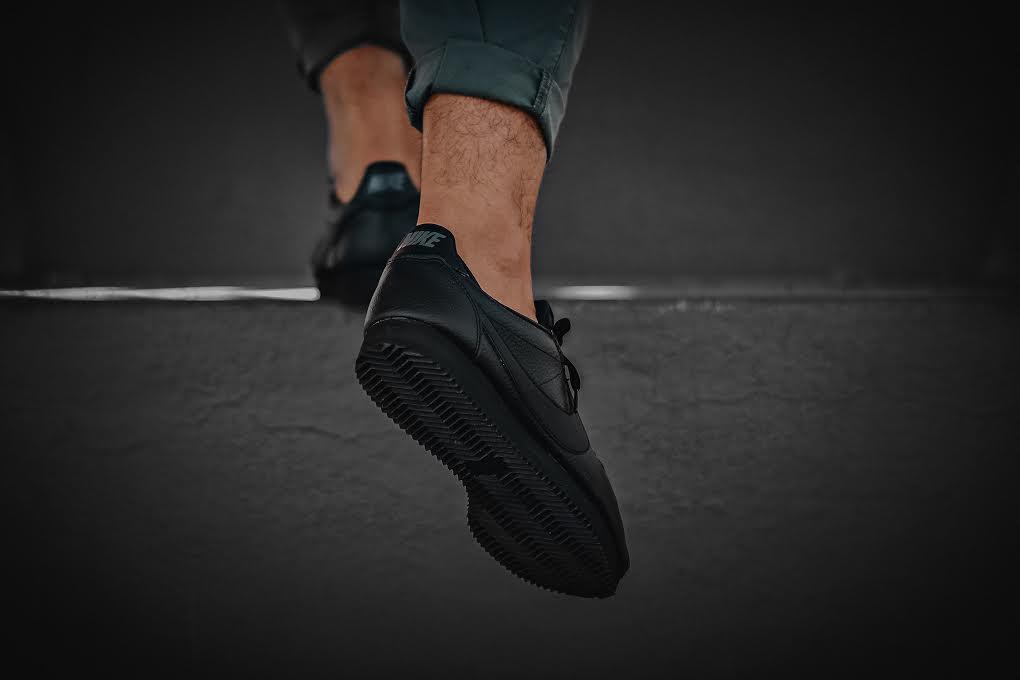 "Nike Cortez Leather ""Triple Black"""