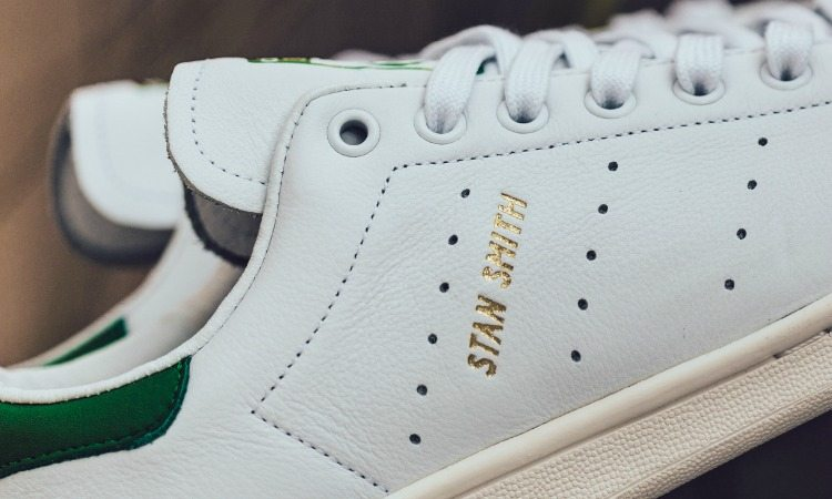 official photos 098f9 15335 ... adidas Stan Smith Tumbled Leather White Green ...