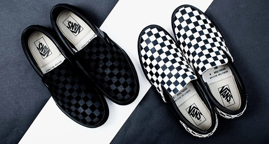9065e4702b N.HOOLYWOOD and Vans Releasing Checkerboard Slip-On Pack