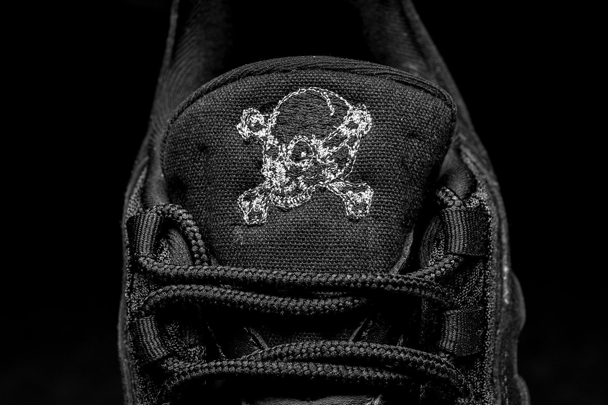 Nike Air Max 90 Premium 'Rebel Skull' BlackChrome
