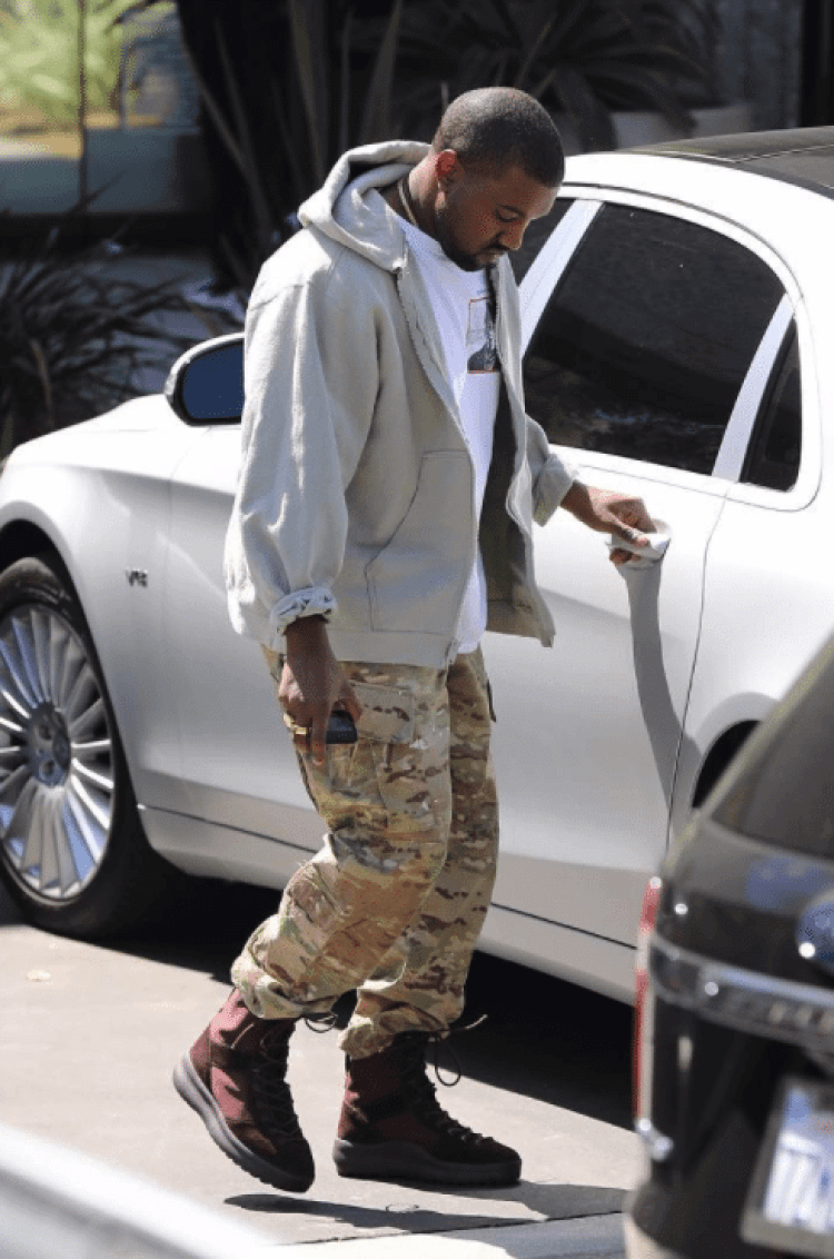 ba15fcd25f293 ... Kanye West in the Yeezy Season 5 Boots
