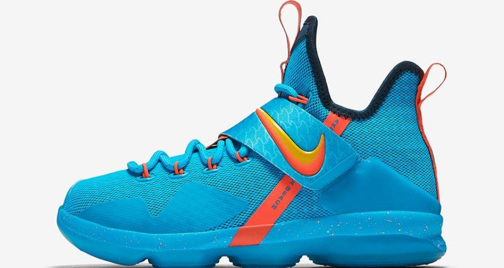 "93c41a62b3e3 Nike LeBron 14 GS ""Cocoa Beach""    Release Date"