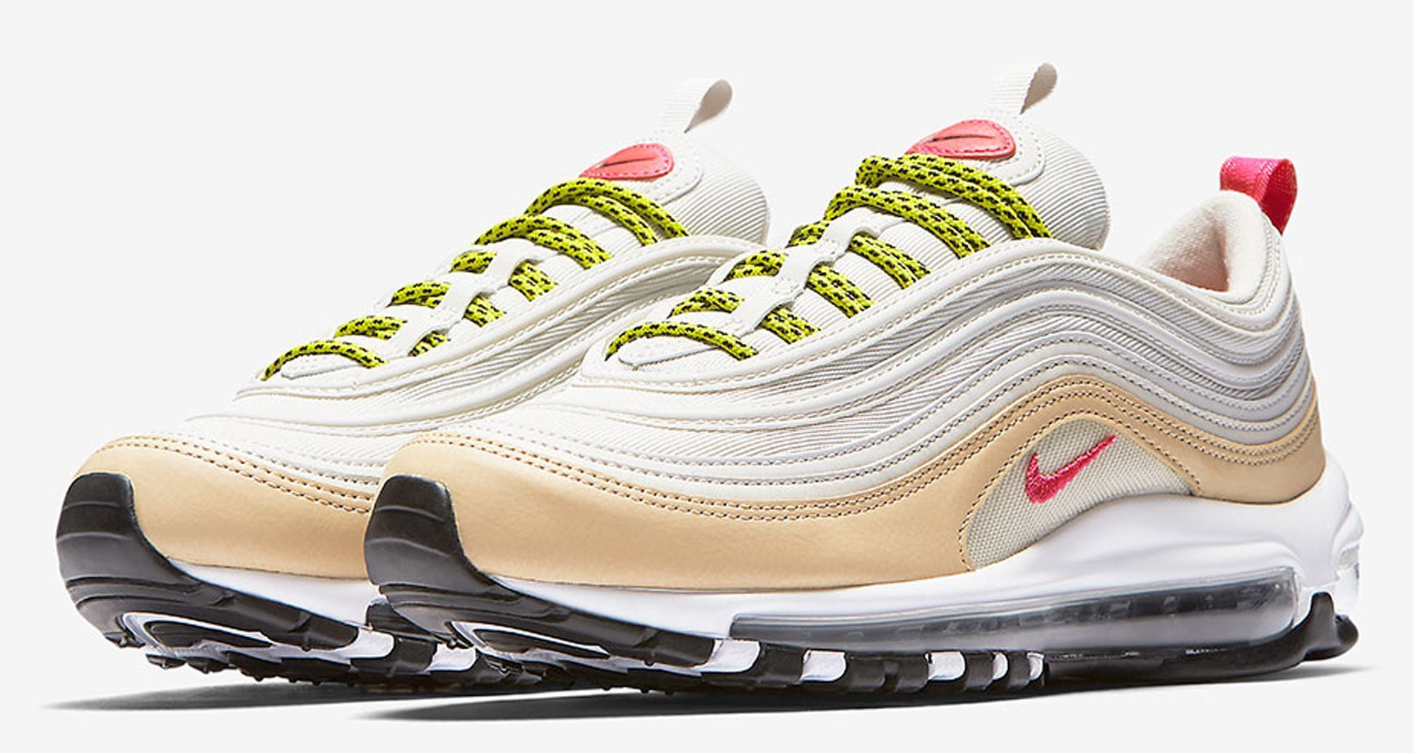 ... nike air max 97 white tan pink coming soon