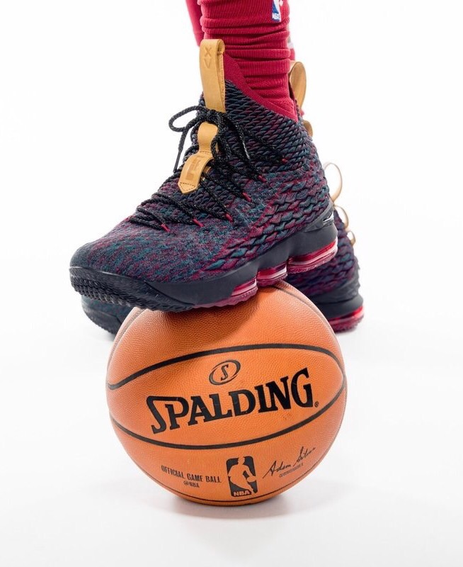 LeBron James Wears New Nike LeBron 15 Colorway for Cavs Media Day ... 9545f4a9c4