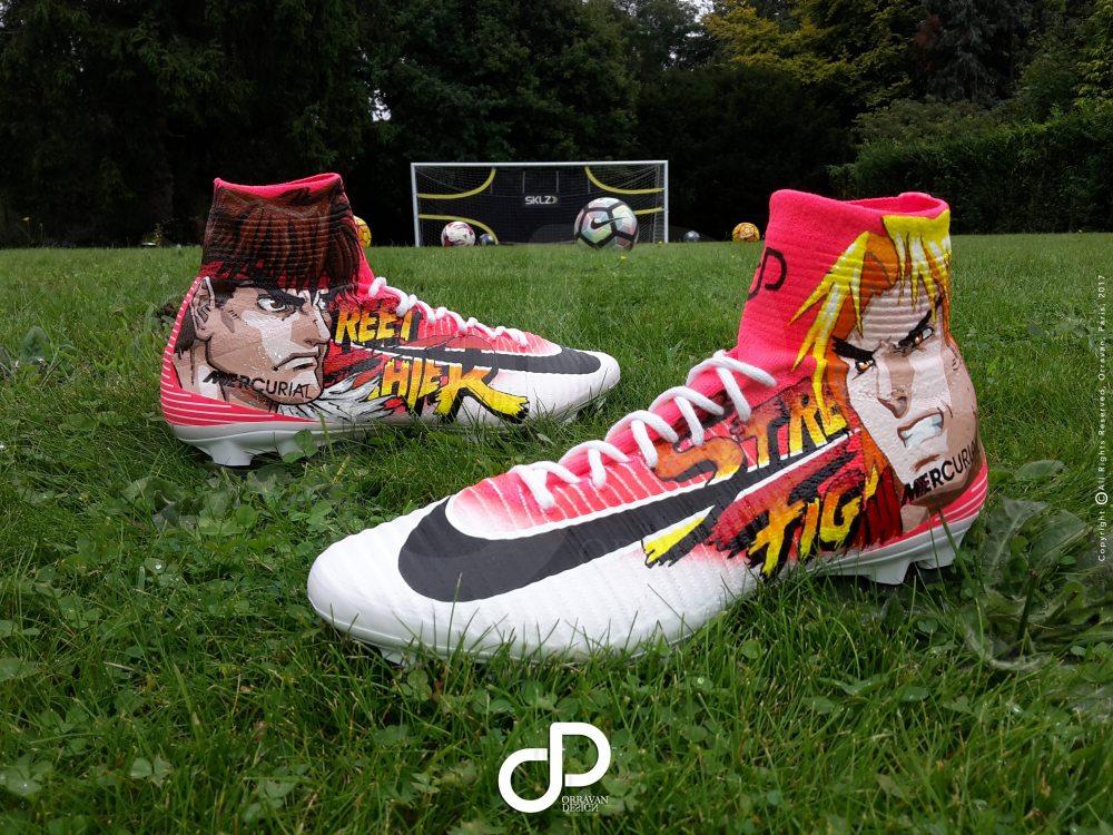 "50809d74b38b ... Custom Nike Mercurial ""MANGA"" Bakary Sako Orravan Design ..."
