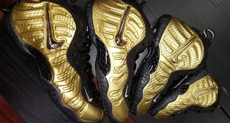 "Nike Air Foamposite Pro ""Gold Carbon"""