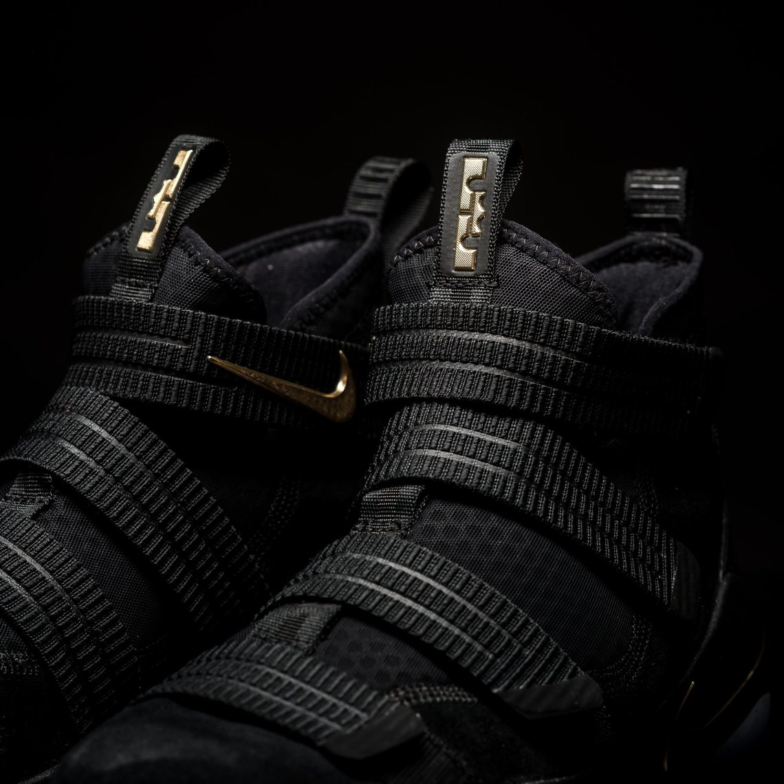 9b046e71d106 Nike LeBron Soldier 11 SFG Black Metallic Gold    Available Now ...