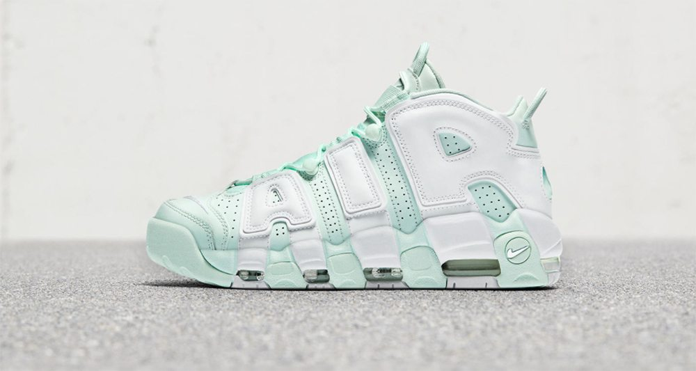 ... this nike air more uptempo is releasing exclusively for the ladies