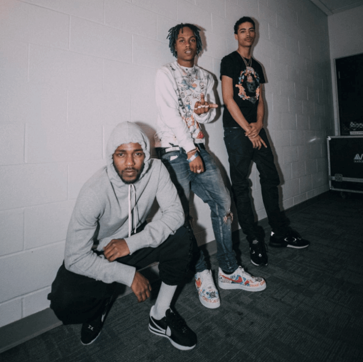 679fb6734ed ... Kendrick Lamar in the Nike Cortez   Rich the Kid in the Nike Air Force 1