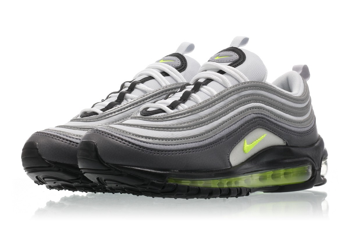 Details about Womens Nike Air Max 97 Neon OG Dark GreyVolt Stealth