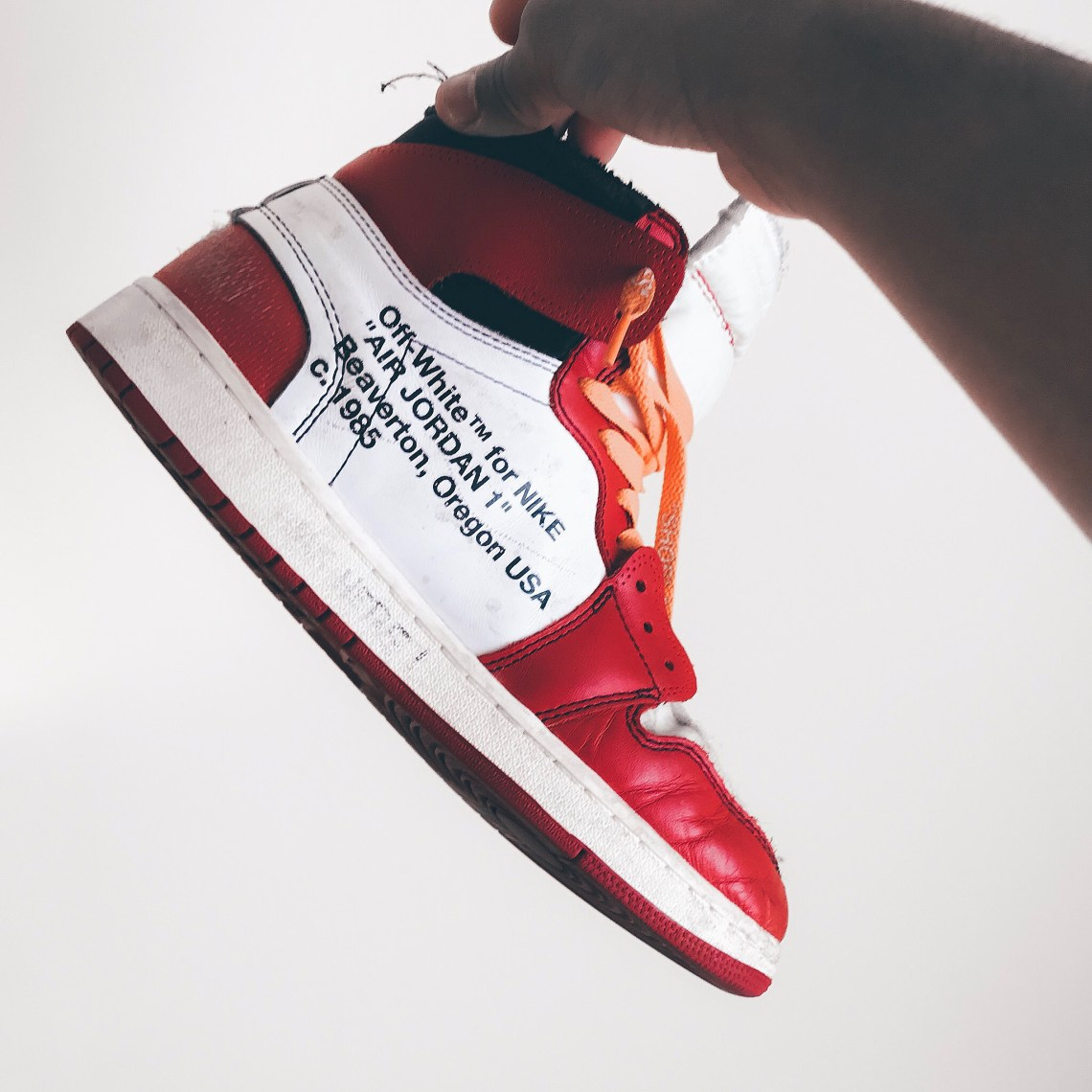 huge discount 57a82 1548a Here's What Beat Off-White Jordan 1's Look Like | Nice Kicks