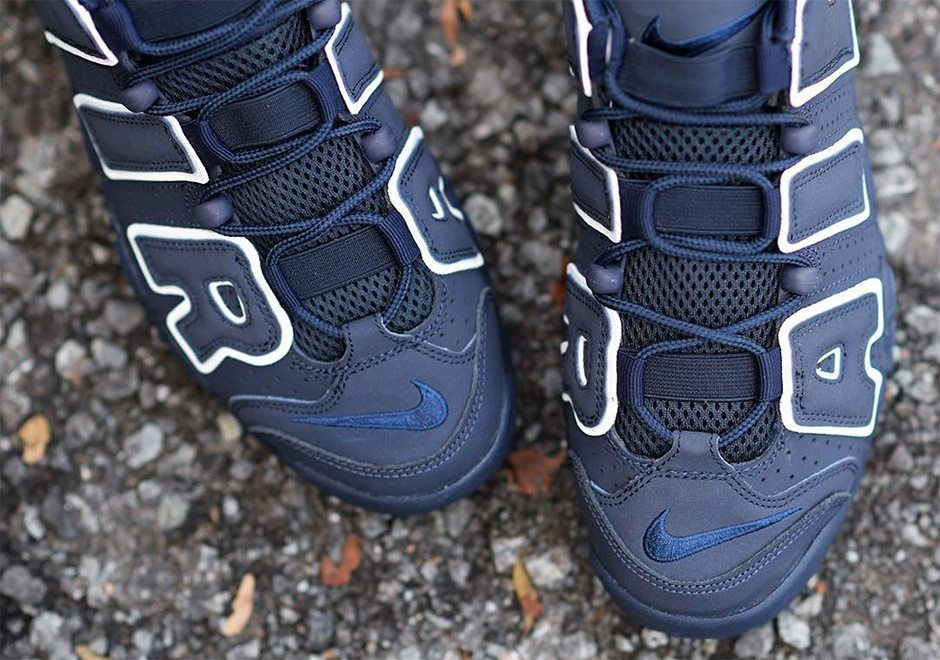 Nike Air More Uptempo GS Navy/White