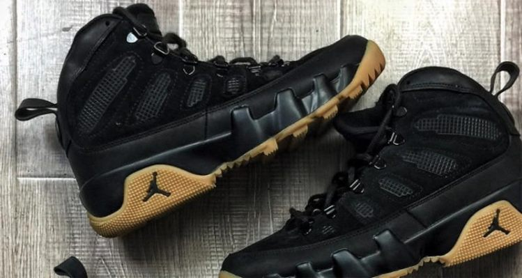Air Jordan 9 NRG Boot Black/Gum