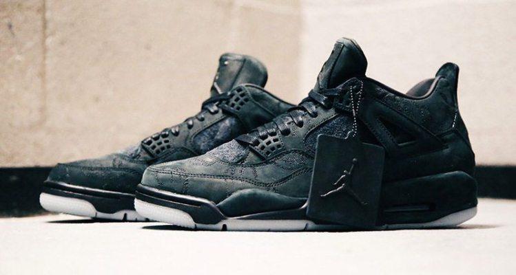 """KAWS x Air Jordan 4 """"Black"""""""