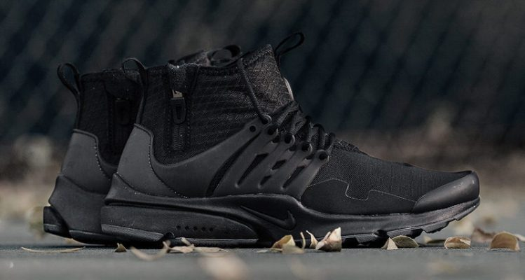"""09a00c78cafe Nike Air Presto Mid Utility """"Black""""    Available Now"""