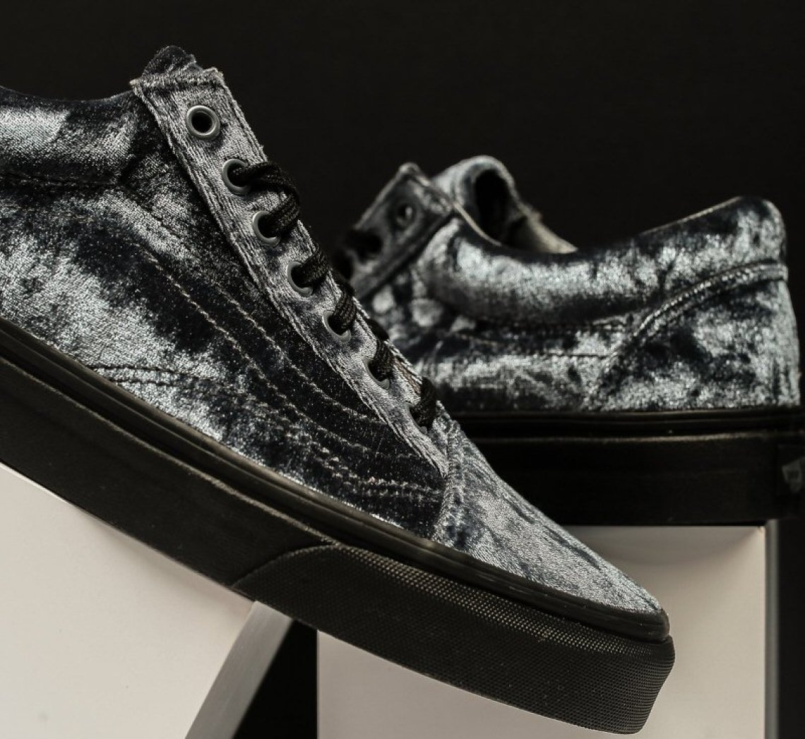 df1be00389 Vans Old Skool Velvet Grey Black    Available Now