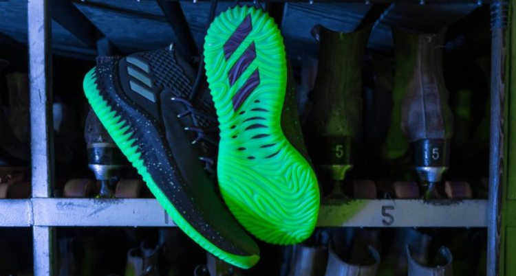 "ae56e5e16601e4 adidas Dame 4 ""Glow in the Park"" Actually Glows in the Dark"