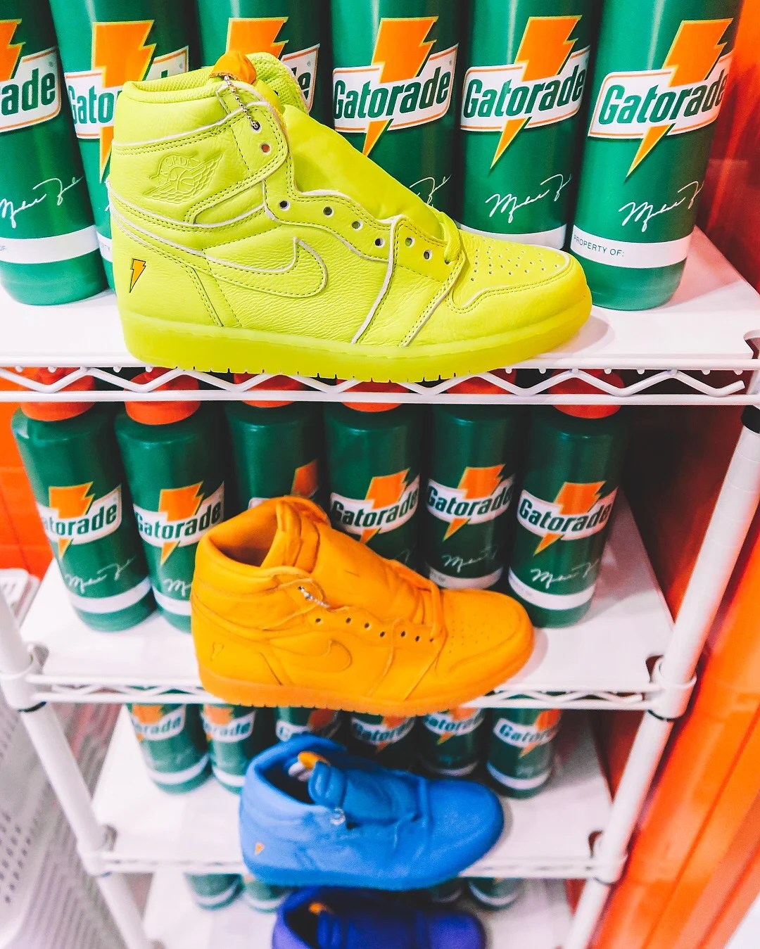 footlocker air jordan 1 gatorade shoes