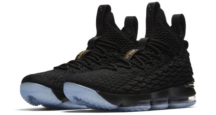 Nike LeBron 15 Black/Gold