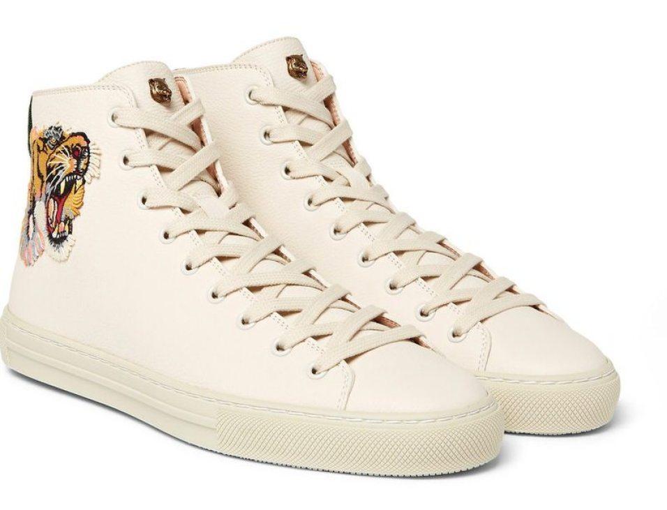 GucciMajor Appliquéd High-Top Sneakers
