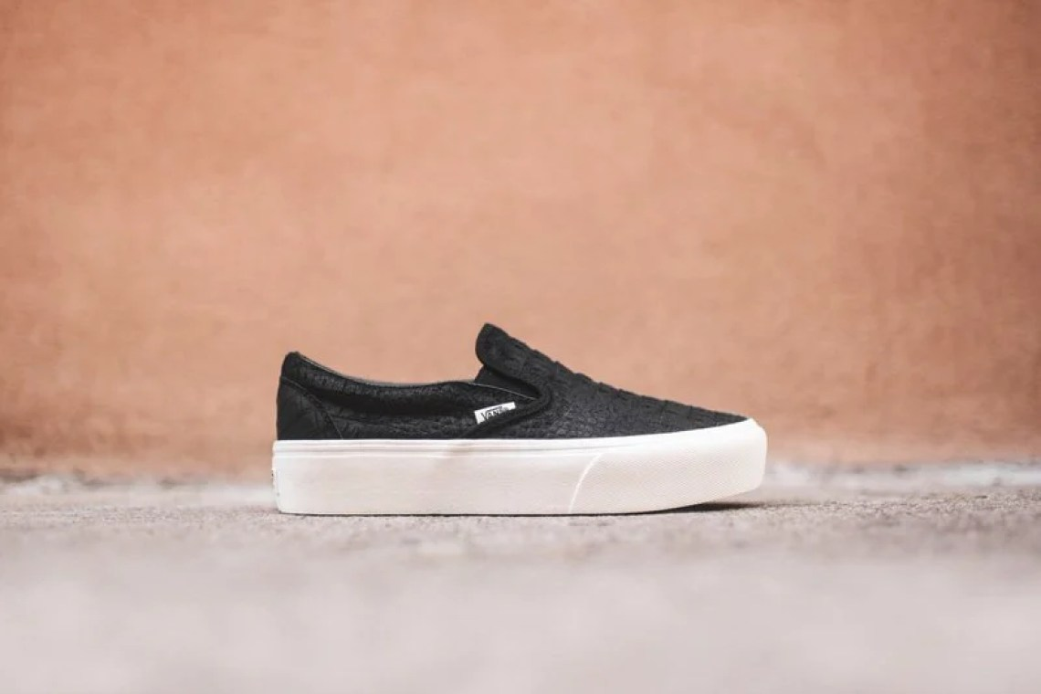 51a6e3597bc59f Vans Classic Slip-On Platform    Available Now