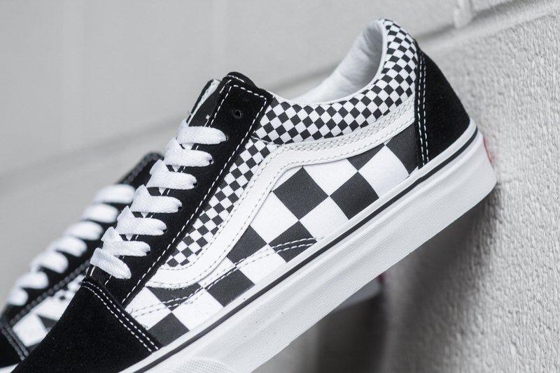 vans old skool black mix checker