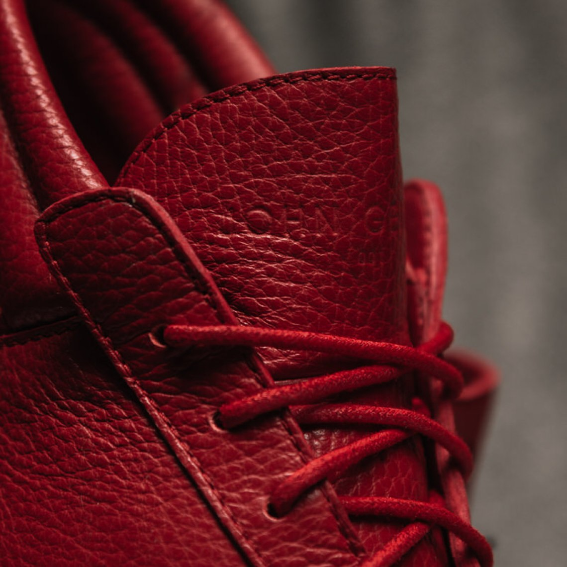 John Geiger 001 Chili Pepper Italian Pebbled Leather