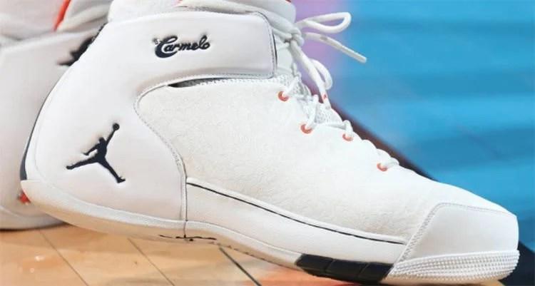 53193e5bb7ed Carmelo Anthony Debuts New Jordan Melo 1.5 Colorway. Jan 10