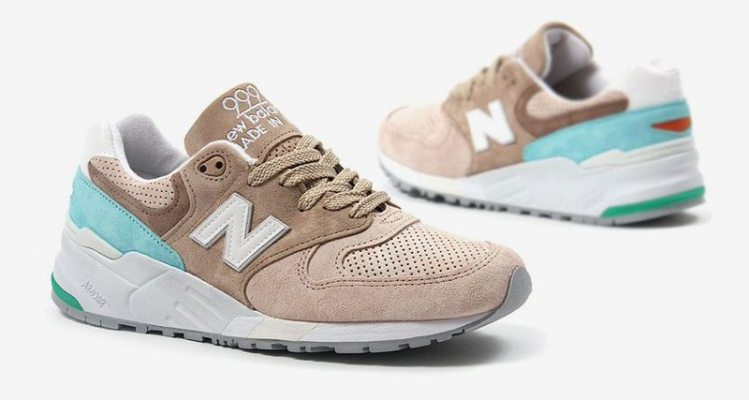 New Balance 999 Tan/Light Blue