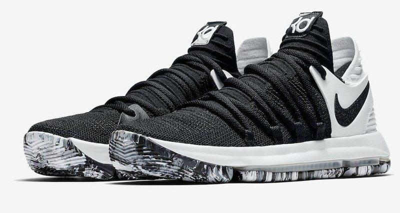 cc38d7910307 Nike KD 10 Black White    Release Date