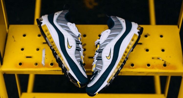 pre order big discount special sales Nike Air Max 98 White/Tour Yellow | Nice Kicks